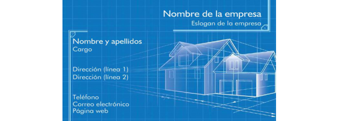 Tarjeta de visita Arquitecto