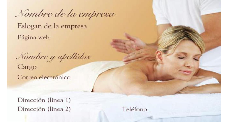 Tarjeta de visita relax y masaje