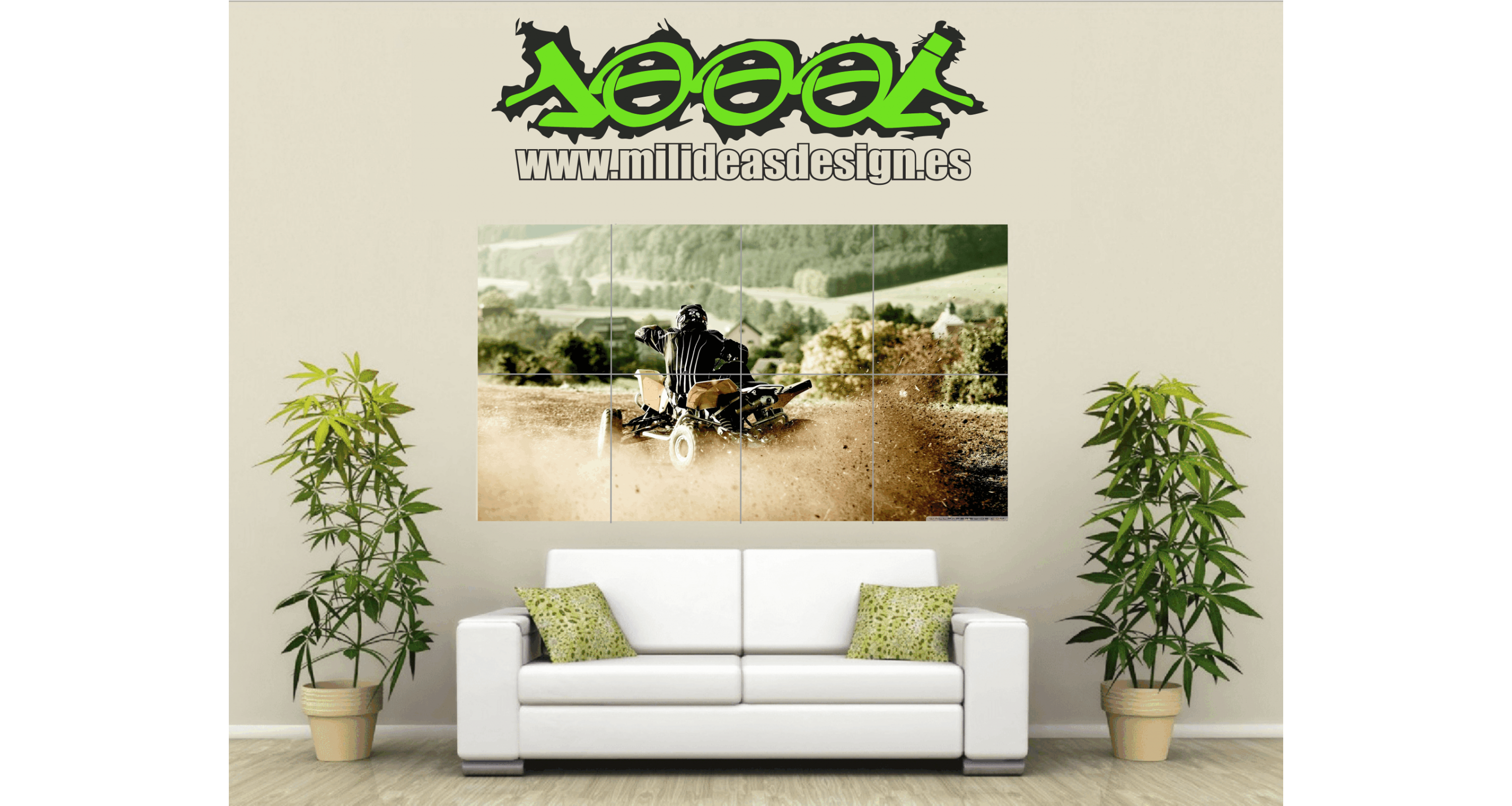 Poster de Pared Gigante Quad ATV