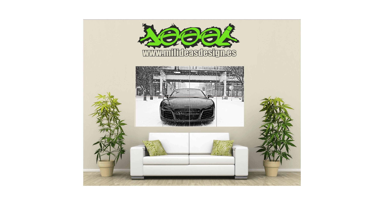 Poster de Pared Gigante Audi y Porsche