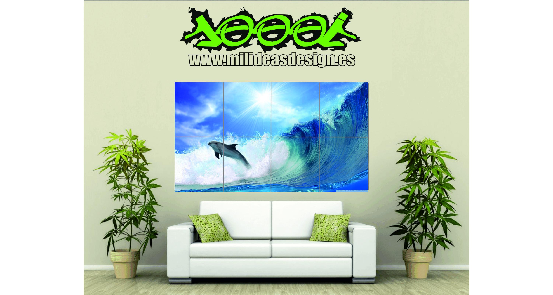 Poster de pared gigante delf n 2 mar mil ideas - Posters para pared ...