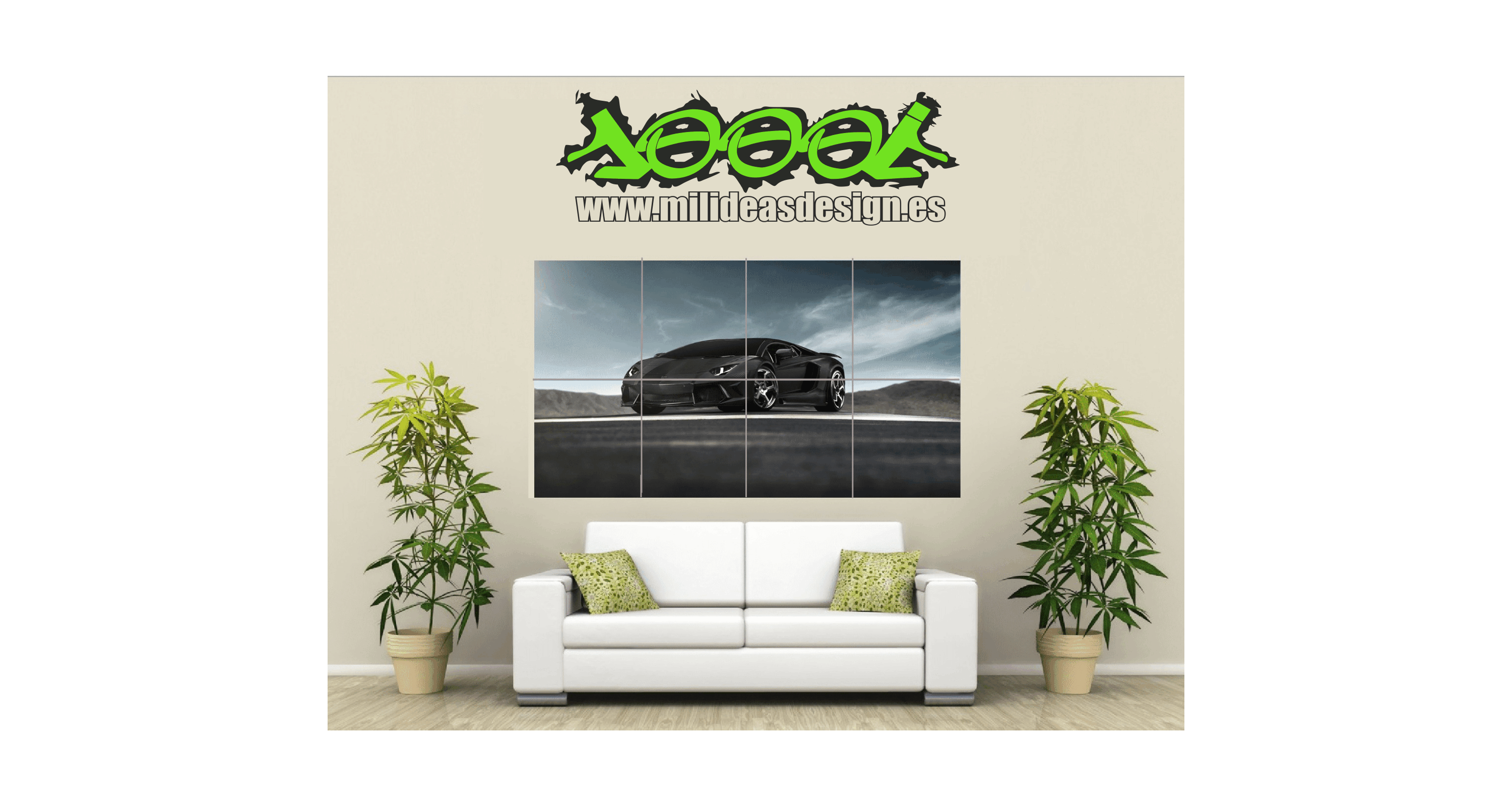 Poster de pared coche galladardo mil ideas rotulacion s l - Poster para pared ...