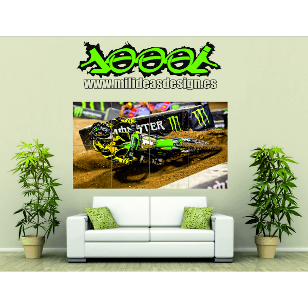 Poster de pared supercross 4 mil ideas rotulacion s l - Poster para pared ...
