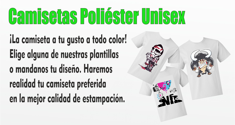 Camisetas Poliéster Unisex